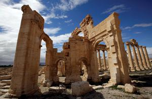 (FILES) - A file picture taken on March 14, 2014 shows the courtyard of the sanctury of Baal Shamin in the ancient oasis city of Palmyra, 215 kilometres northeast of Damascus. Islamic State group jihadists on August 23, 2015 blew up the ancient temple of Baal Shamin in the UNESCO-listed Syrian city of Palmyra, the country's antiquities chief told AFP. AFP PHOTO / JOSEPH EIDJOSEPH EID/AFP/Getty Images
