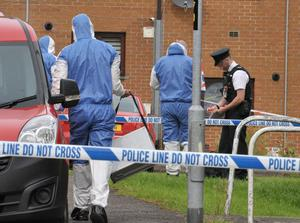 A major police forensic investigation is underway this afternoon in the Drumtara area of Ballymena in County Antrim.