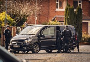 Line of Duty filming on Cavehill Road and Sunningdale Park on March 15th 2020 (Photo by Kevin Scott for Belfast Telegraph)