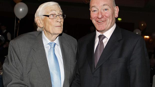 PACEMAKER BELFAST  20/02/2015 Seamus Mllon Seamus Mallon Pictured with Former SDLP Leader Mark Durkan