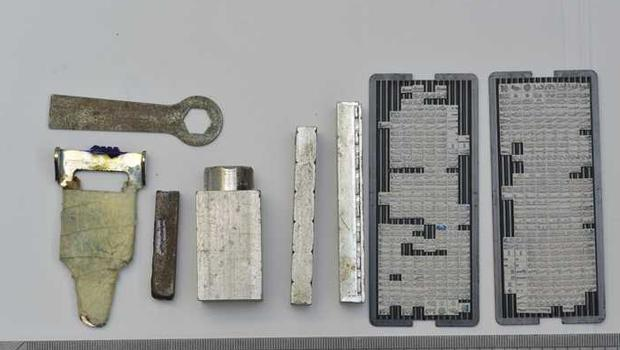Items used in the counterfeiting operation.