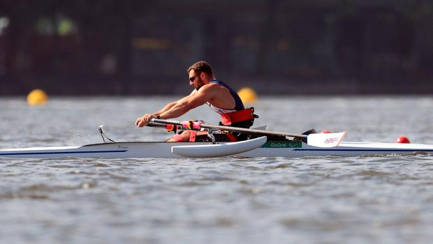 ParalympicsGB's Tom Aggar during a training session at Lagoa Rowing Centre ahead of the 2016 Rio Paralympic Games, Brazil. PRESS ASSOCIATION Photo. Picture date: Tuesday September 6, 2016. Photo credit should read: Adam Davy/PA Wire. EDITORIAL USE ONLY