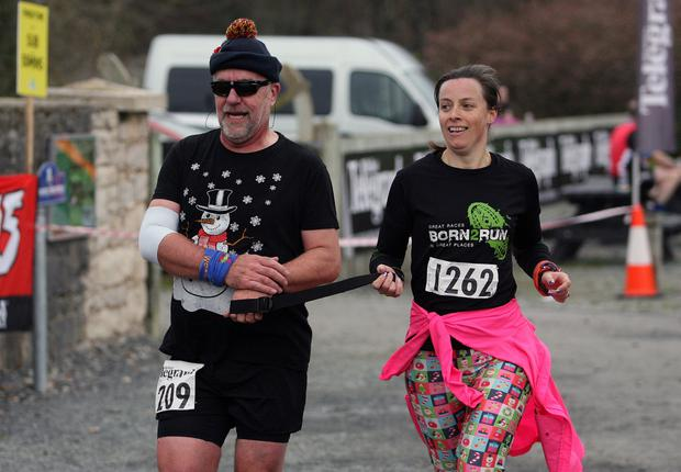 Mandatory Credit - Picture by Freddie Parkinson/Press Eye © Saturday 3rd December 2016 Belfast Telegraph Run Forest Run Loughgall. Loughgall Country Park, 11-14 Main Street, Loughgall, Armagh.  Tony Barclay and  Laura Crothers 10K Newcastle