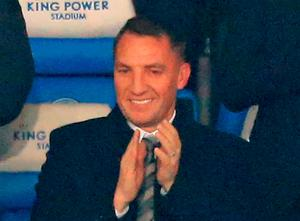 Moving on: Brendan Rodgers takes in his new surroundings at Leicester