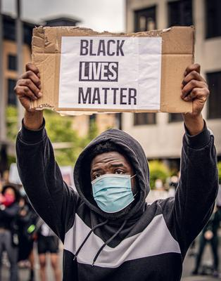 A black lives matter rally takes place at Custom House Square in Belfast on June 6th 2020 Photo by Kevin Scott for Belfast Telegraph)