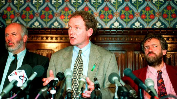 31/08/95 of Martin McGuinness, leading Sinn Fein negotiator in the peace process, attending a news conference in the House of Commons. PA