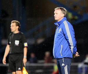 Northern Ireland's manager Michael O'Neill  during Friday's game in Belfast Photo David Maginnis/Pacemaker Press