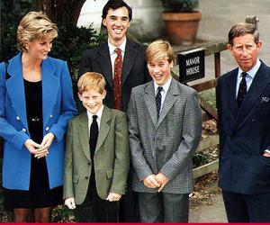 Charles and Diana Windsor, Prince & Princess of wales, with sons Harry and William.