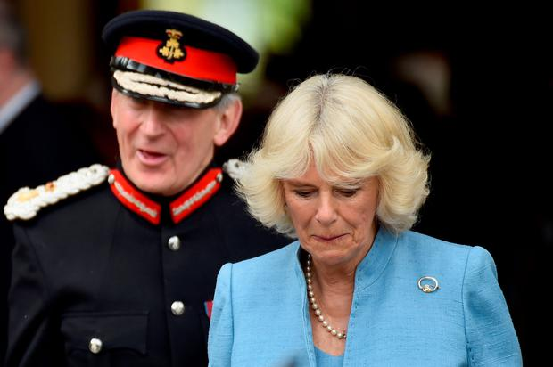 Camilla, Duchess of Cornwall visits Mount Stewart on May 22, 2015 in Newtownards, Northern Ireland. Prince Charles, Prince of Wales and Camilla, Duchess of Cornwall visited Mount Stewart House and Gardens and Northern Ireland's oldest peace and reconciliation centre Corrymeela on the final day of their visit of Ireland.  (Photo by Jeff J Mitchell/Getty Images)
