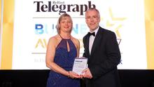 Janet McCollum, chief executive of Moy Park, was last year presented with the Lifetime Achievement Award by Richard Donnan, head of Ulster Bank in Northern Ireland