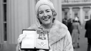Dame Vera Lynn outside Buckingham Palace after being invested a Dame in 1975 (PA)