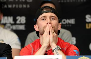 Press Eye - Belfast -  Northern Ireland - 26th January 2017 - Photo by William Cherry  Carl Frampton during Thursdays press conference at the MGM Grand Hotel and Casino, Las Vegas. Carl will fight Leo Santa Cruz in a rematch for the WBA featherweight title at the MGM Garden Arena.  Photo William Cherry/Presseye