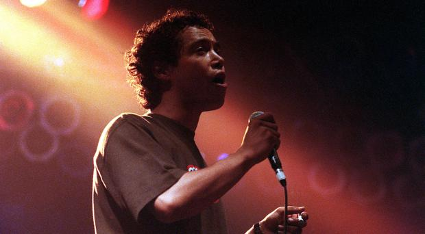 Finley Quaye performing on stage (James Arnold/Archive/PA)