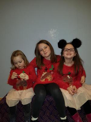 Caoimhe, aged 10, Eimear, aged six, and Imogen, aged two.