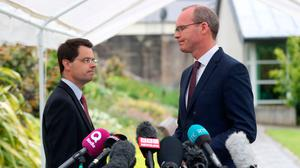 Secretary of State James Brokenshire and Irish Foreign Minister Simon Coveney