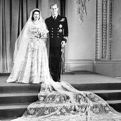 File photo dated 20/11/1947 of Princess Elizabeth (now Queen Elizabeth II) and Lt Philip Mountbatten at Buckingham Palace after their wedding ceremony as the Queen turns 90 on the April 21st. PRESS ASSOCIATION Photo. Issue date: Sunday April 3, 2016. See PA story ROYAL Birthday. Photo credit should read: PA Wire