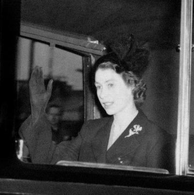 File photo dated 07/02/52 of Queen Elizabeth II, in a black mourning outfit, waving as she returns to Clarence House in London the day after she became Queen as she turns 90 on the April 21st. PRESS ASSOCIATION Photo. Issue date: Sunday April 3, 2016. See PA story ROYAL Birthday. Photo credit should read: PA Wire