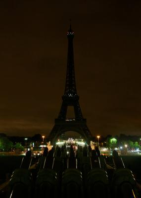 The lights of the Eiffel Tower in the French capital Paris are switched off on August 17, 2017, in solidarity with neighbouring Spain following two quick-succession, separate attacks in Barcelona and another popular Spanish seaside city Cambrils, a city 120 kilometres south of Barcelona, leaving 13 people dead and injuring more than 100 others. There were at least 18 nationalities among the Barcelona victims who came from countries as varied as France, Venezuela, Australia, Ireland, Peru, Algeria and China, according to Spain's civil protection agency. / AFP PHOTO / Zakaria ABDELKAFIZAKARIA ABDELKAFI/AFP/Getty Images