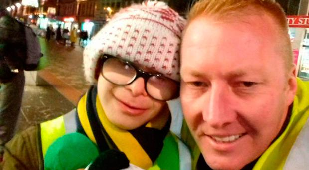 Jay Beatty with Anton Riley from Help the Homeless