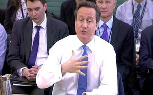 Prime Minister David Cameron appears before the Liaison Select Committee in the House of Commons yesterday
