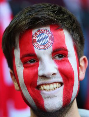 LONDON, ENGLAND - MAY 25:  An FC Bayern Muenchen fan ahead of the UEFA Champions League final match between Borussia Dortmund and FC Bayern Muenchen at Wembley Stadium on May 25, 2013 in London, United Kingdom.  (Photo by Alex Livesey/Getty Images)