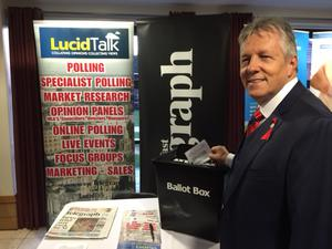 Peter Robinson casts his vote in our survey