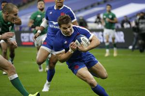 Antoine Dupont was among the try scorers when France beat Ireland in last year's Six Nations (PA)
