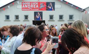Pacemaker Press Belfast :TUESDAY: 18th June 2013 Andrea Begley (Danny) Finalists on The Voice pictured back at home in Pomeroy, Co Tyrone Northern Ireland before the final this Saturday.  Picture By: Arthur Allison.