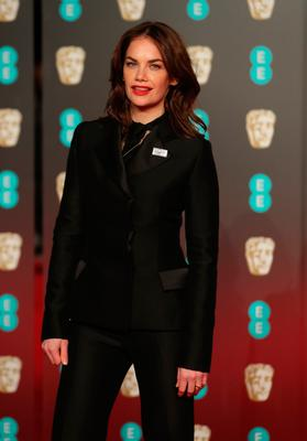 British actress Ruth Wilson poses on the red carpet upon arrival at the BAFTA British Academy Film Awards at the Royal Albert Hall in London on February 18, 2018. / AFP PHOTO / Daniel LEAL-OLIVASDANIEL LEAL-OLIVAS/AFP/Getty Images
