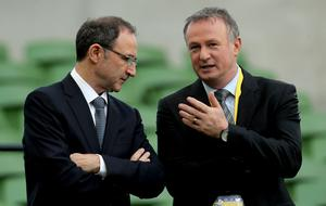 Martin O'Neill and Michael O'Neill were managers the last time an all-Ireland international football team was debated.