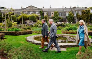 The Prince of Wales and Duchess of Cornwall tour Mount Stewart on the last day of their visit to Northern Ireland.