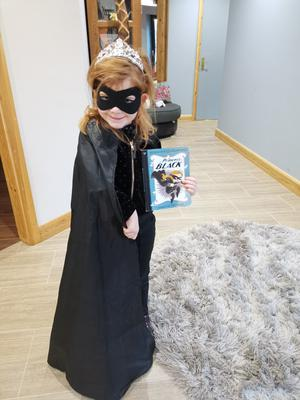 Olivia Virtue, age 5, from Dromore, Co Tyrone as the Princess in Black