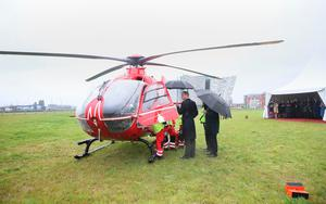 The Duke of Cambridge sees the work of Lagan Search and Rescue, a rescue and lifeboat service that covers the Belfast Harbour Estate, River Lagan and the estuarial waters of Belfast Lough, in the Titanic Quarter, as part of his tour of Belfast. PRESS ASSOCIATION Photo. Picture date: Wednesday October 4, 2017.Brian Lawless/PA Wire