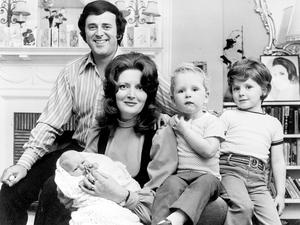 Sir Terry Wogan and his wife Helen with their baby daughter Katherine at three weeks old in 1972