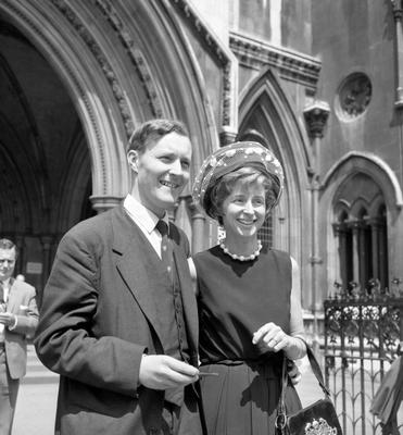 File photo dated 28/07/61 of Tony Benn with his wife Caroline. The veteran politician died at home today at the age of 88, his family said in a statement. RESS ASSOCIATION Photo. Issue date: Friday March 14, 2014. See PA story DEATH Benn. Photo credit should read: PA/PA Wire