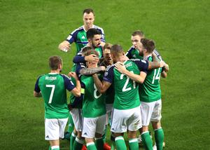 Press Eye - Belfast -  Northern Ireland - 08th October 2016 - Photo by William Cherry  Northern Ireland's Steven Davis celebrates scoring against San Marino during Saturday nights World Cup 2018 Qualifier at the National Stadium at Windsor Park.