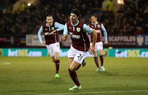 Burnley's George Boyd celebrates after scoring his side's goal in their draw with Newcastle at Turf Moor