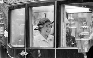 File photo dated 21/04/86 of Queen Elizabeth II leaving St Georges Chapel, Windsor following a thanksgiving service at the chapel to mark her 60th birthday, as the Queen's birthday celebrations over the past 90 years have ranged from a quiet morning ride with her children at Windsor to a grand birthday ball for 500 guests. PRESS ASSOCIATION Photo. Issue date: Sunday April 3, 2016. Her 40th birthday coincided with the State Opening of Parliament and her 80th was a busy affair including a walkabout, an intimate family dinner followed by fireworks, and a special tribute from the Prince of Wales broadcast to the nation. The monarch celebrates two birthdays each year: her actual one on April 21, as well as her official one on a Saturday in June marked by the Trooping the Colour parade. See PA story ROYAL Birthday Past. Photo credit should read: PA Wire