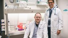 Research: Dr David Dowling (left) with programme director Dr Ofer Levy