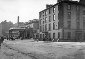 The Great Northern Railway Station, Great Victoria Street, Belfast, in the early part of the century.