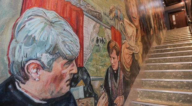 Pictured: The Father Ted mural at Malone's pub in Edinburgh.