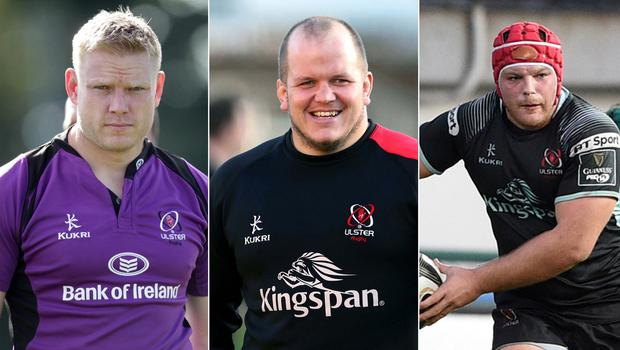 The three players in the running for the number one jersey in our Ulster Team of the Decade arer (l-r) Tom Court, Callum Black and Eric O'Sullivan.
