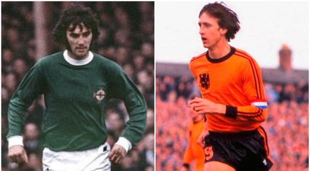 George Best and Johan Cruyff graced the same pitch in 1976.