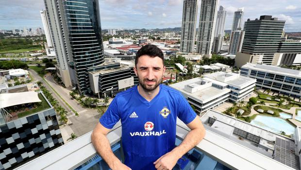 Press Eye - Belfast -  Northern Ireland - 26th May 2018 - Photo by William Cherry/Presseye  Northern Ireland's Conor McLaughlin pictured at the team hotel in Panama City on the first day of their summer tour to Panama and Costa Rica.