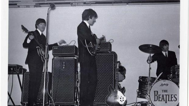 The Beatles at the King's Hall, Belfast in November 1964.