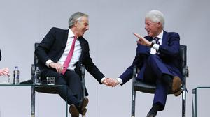 Good Friday AgreementTony Blair and Bill Clinton at Queen's University in Belfast (Brian Lawless/PA)