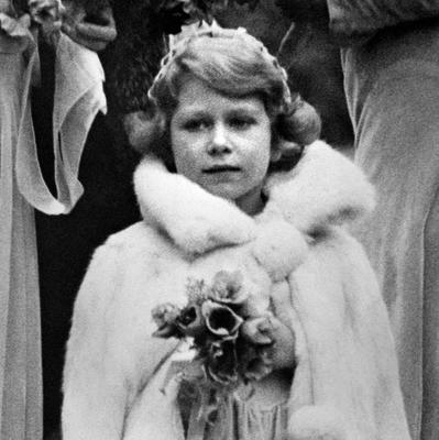 File photo dated 24/10/1931 of Princess Elizabeth (now Queen Elizabeth II) arriving at the 16th Century Church at Balcombe, Sussex, for the wedding of Lady May Cambridge and Captain Henry Abel Smith as the Queen turns 90 on the April 21st. PRESS ASSOCIATION Photo. Issue date: Sunday April 3, 2016. See PA story ROYAL Birthday. Photo credit should read: PA Wire