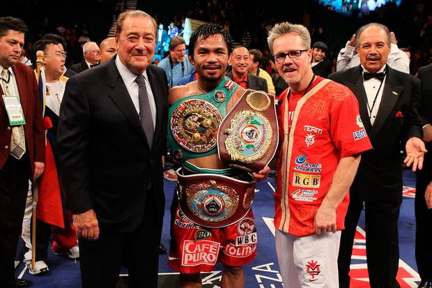 With Manny Pacquiao and Freddie Roach