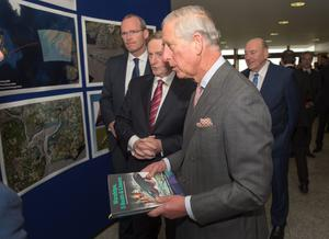 GALWAY, IRELAND - MAY 19:  Irish Taoiseach Enda Kenny and Prince Charles, Prince Of Wales visit the Marine Institute on May 19, 2015 in Galway, Ireland. The Prince of Wales and Duchess of Cornwall arrived in Ireland today for their four day visit to the Republic and Northern Ireland, the visit has been described by the British Embassy as another important step in promoting peace and reconciliation. (Photo by Arthur Edwards - WPA Pool/Getty Images)
