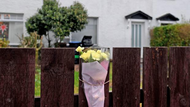 Flowers at a house in Fernagh Drive, Newtownabbey (Alan Lewis - PhotopressBelfast.co.uk 21/12/2019)